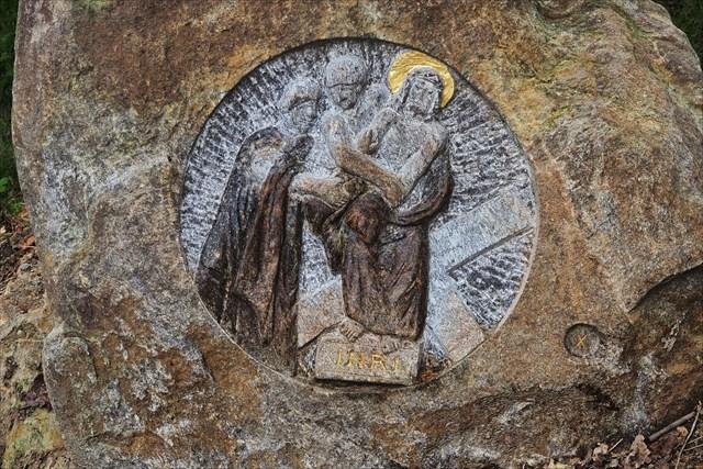 Křížová cesta detail kamene