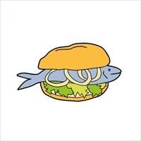 Ein Fischbrötchen.... lecker :-)))