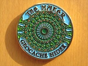 The Maker Geocoin (Vorderseite)