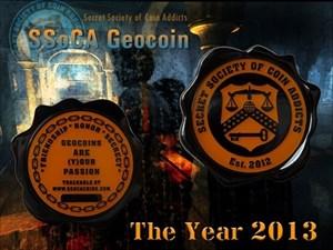 S.S.o.C.A. Geocoin - The Year 2013