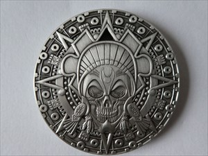 Andy's Aztec Pirate Geocoin side A