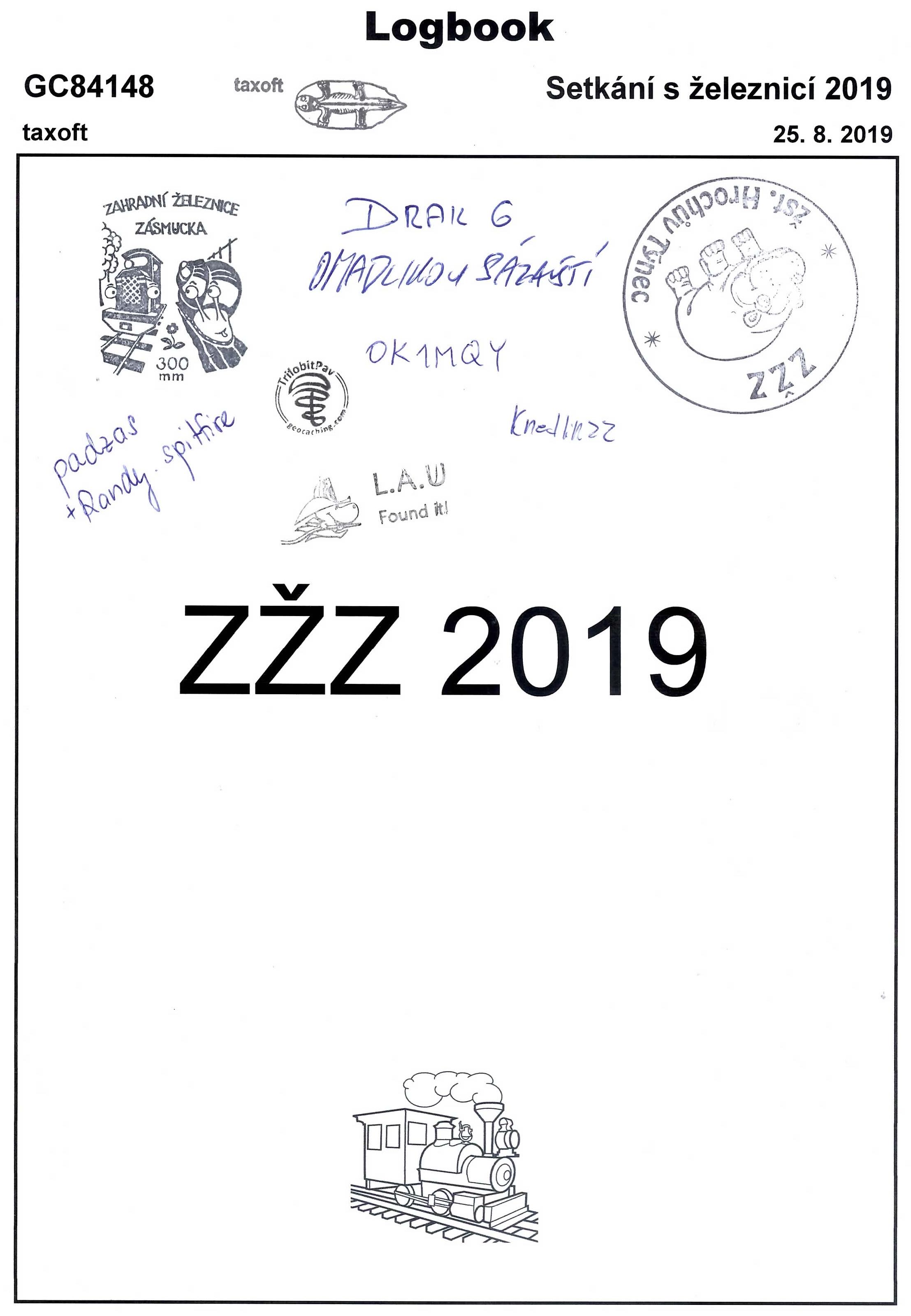 GC84148 - Setkání s železnicí 2019 - logbook - druhá část