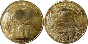 Alaska Geocoin 2009