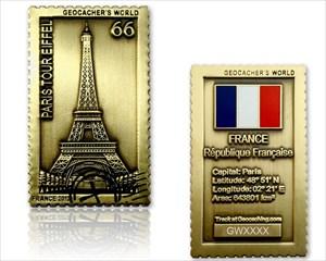 [FRANCE] Geocacher's World Geocoin