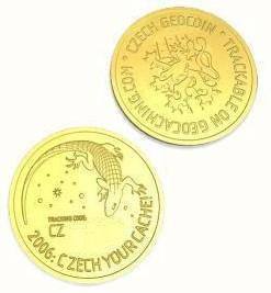 Janeckuv zlatak / John ´s Golden Coin (Czech Republic Geocoin)