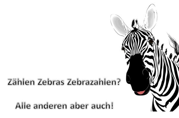 Zählen Zebras Zebrazahlen?