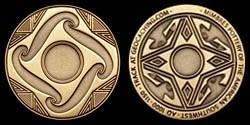 Mimbres 3.0 Geocoin - Antique Bronze