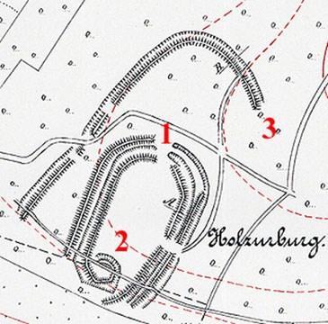 Karte der Wallanlage
