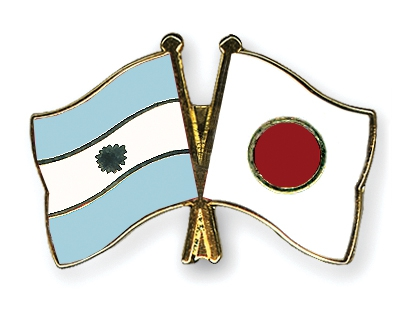 Argentin and Japa flags