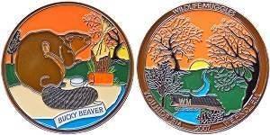 Wildlife Muggles Bucky Beaver Geocoin