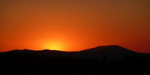 Primda po zapadu slunce