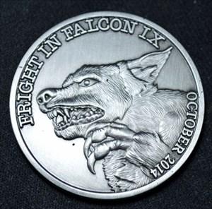 2014 Fright in Falcon IX Geocoin