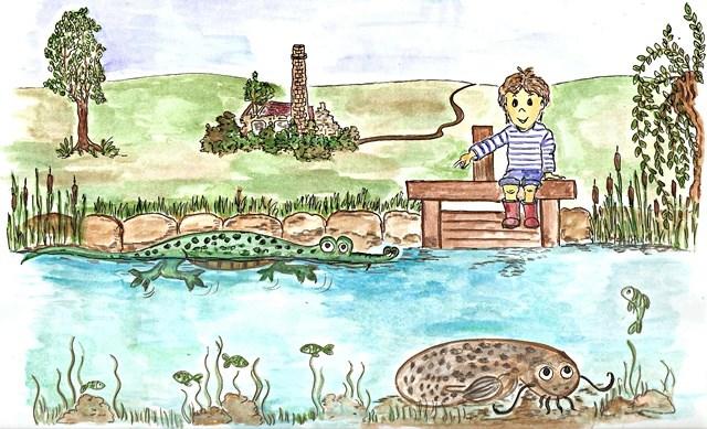 Skalácek, krokodýl a sumec