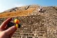 TB prepares to climb a pyramid