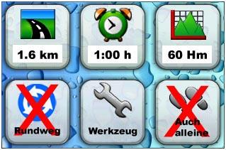 Alle Angaben beziehen sich auf die Gesamtstrecke vom Parkplatz bis zum Final und zurück! Streckenlänge: ca. 1,6 km; Zeitbedarf: ca. 1:00 h; Höhenmeter: ca. 60 Hm; Rundweg: Nein; Spezielle Ausrüstung oder Werkzeug benötigt: Ja, Taschenlampe; Auch alleine möglich: Nein