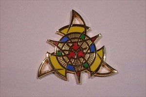 The Celtic Triangle Geocoin - Poliertes Gold