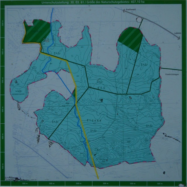 Karte des NSG Eldena