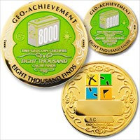 08000 Finds Geo-Achievement Geocoin