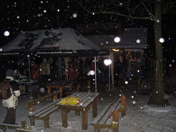Grillen bei Schnee