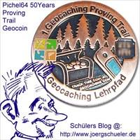Pichel64 50Years Proving Trail Geocoin