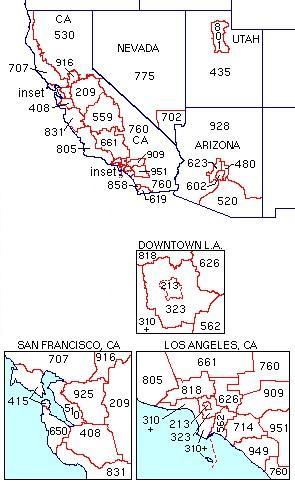 GCZP A Brief History Of Southern California Area Codes - 435 area code