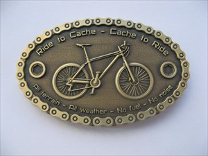 Certified Geocaching Bike Geocoin