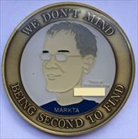 LordT's MarkTa STF Geocoin - Front