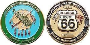 Route 66 Series Geocoin - Oklahoma