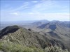 The ridgeline looking north