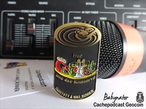 Cachepodcast Geocoin - Babynator / AE40