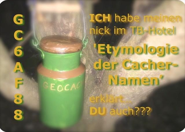 Banner 'Etymologie der Cacher-Namen'