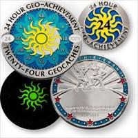 Geo-Achievement 24 Hours 24 Caches Geocoin