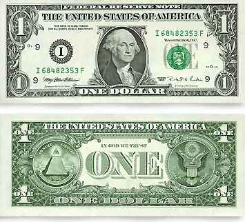 Actual 5 Dollar Bill Size Image