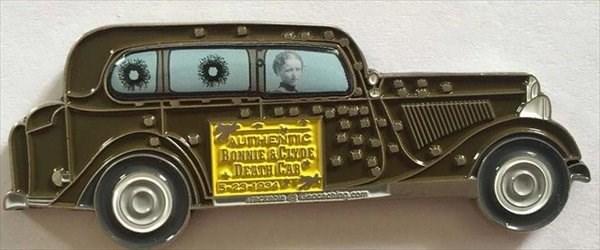 (TB79TGG) Bonnie And Clyde Death Car Geocoin