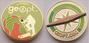 Geopt.org Traveller Geocoin - GEOBIKE TOUR