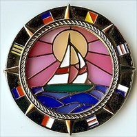 Pozorjed's Sailboat Suncatcher Geocoin