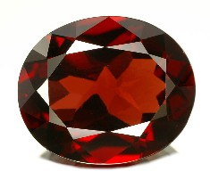 cut pyrope gemstone