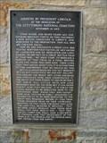 Image for Abraham Lincoln - The Gettysburg Address - Poplar Grove National Cemetery - Petersburg, Virginia