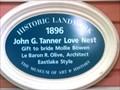 Image for Blue Plaque: John G Tanner Love Nest