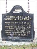 Image for Springville and Sardinia Railroad - Chaffee, New York