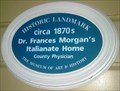 Image for Blue Plaque: Dr. Frances Morgan's Italianate Home