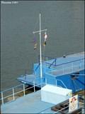 Image for Nautical flag pole on floating landing near Jiráskuv bridge (Prague)