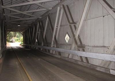 Inside View from Pedestrian Lane, Santa Cruz County, California