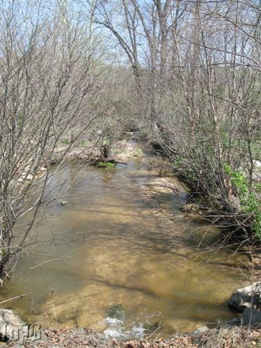 Known as Lick Run today, this is the creek Union soldiers retreated across.