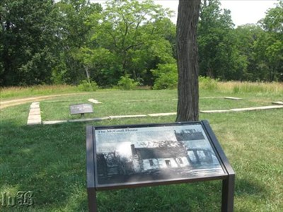 Many homes and farms were on the battlefield. Not much remains of the McCoull House.
