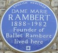 Image for Marie Rambert - Campden Hill Gardens, London, UK