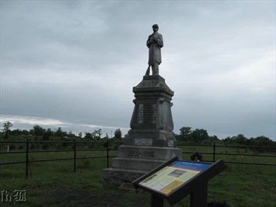 A monument was erected in 1905 to the 54th PA who suffered the greatest losses at the Bloody Cedars.