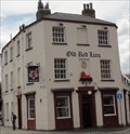 Image for Old Red Lion Pub With Lion Statue Above the Door – Leeds, UK
