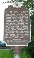 Image for Civil War Camp Historical Marker