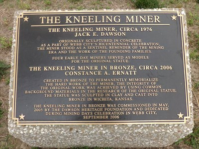 Historic Route 66 - Kneeling Miner